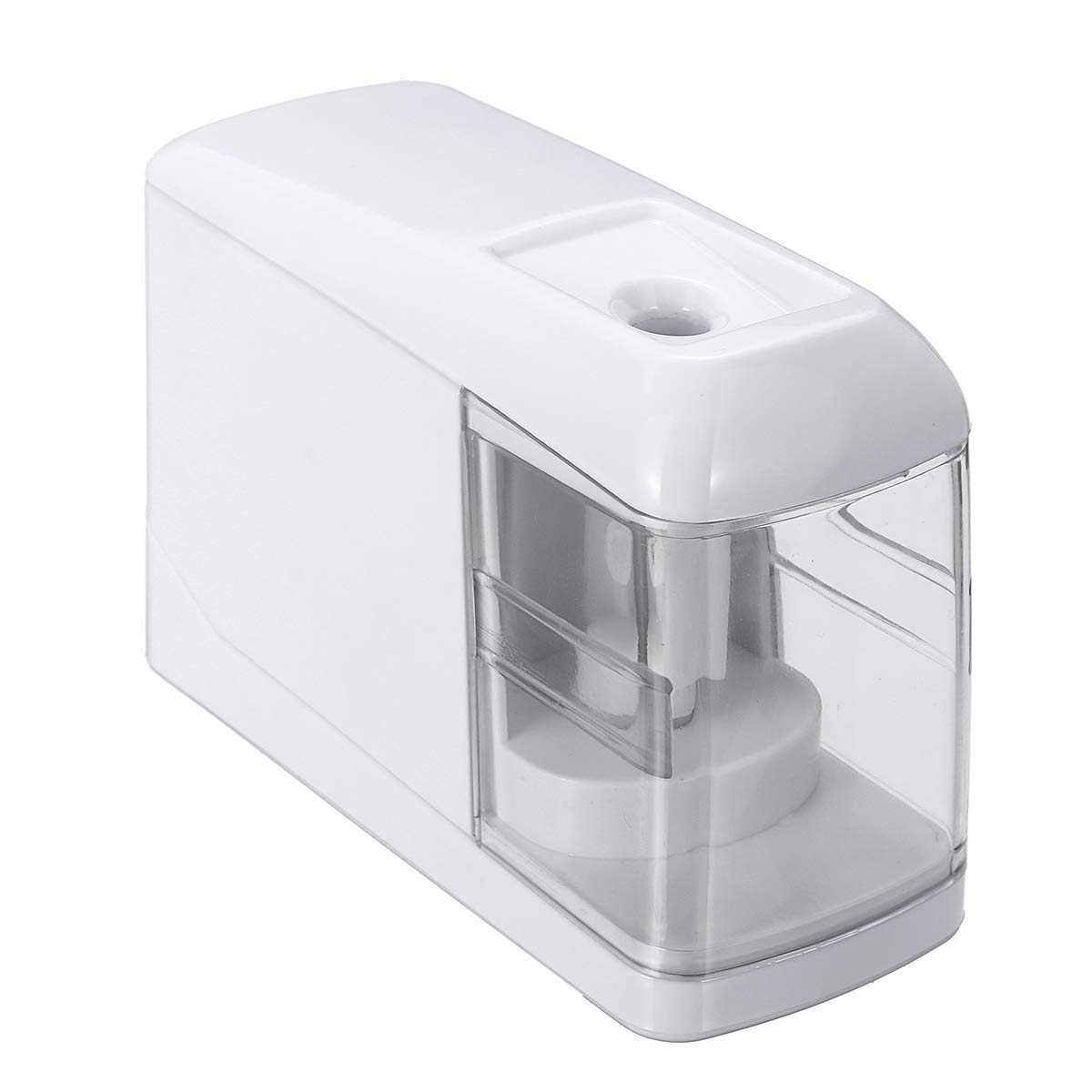 GEMITTO Electric Pencil Sharpener, Automatic Durable Portable Sharpeber Office School Classroom Home AC Adapter/USB/Battery Operated White GEMITTOOHBUS35678121296