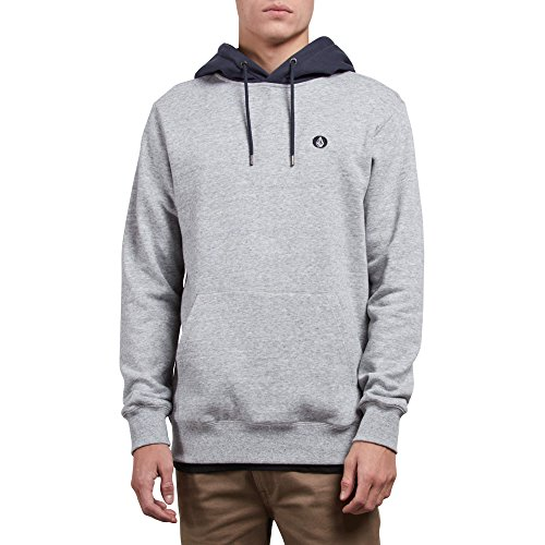 Volcom Men's Single Stone Pullover Fleece, Storm, Extra Extra Large