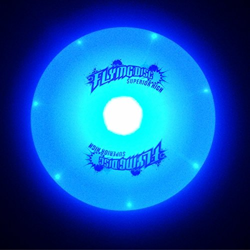 Frisbee-LED Flying Disc Light Up Frisbee Glow in the Dark for Night Games by KING FRISBEE