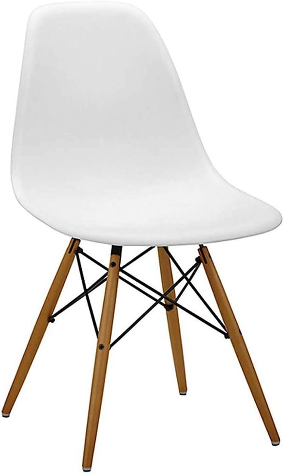 Dining Chair, Assembled Modern Style Plastic Wood Retro Modern Furniture, Living Room, Desk, Patio, Kitchen,Office Modern Lounge Chair, Cafeterias Stool,B