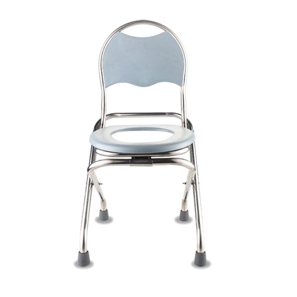 C&L グレー折りたたみチェア、トイレシート高齢者用折りたたみトイレシートのための大人の障害WCの椅子バスチェアから選択する2つのサイズ - 貧しい人々の移動性のほとんどの人に適しています (サイズ さいず : 40*35*77cm) B07D9C6761 40*35*77cm  40*35*77cm