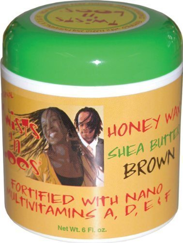 Twists 'n Locs Original Honey Wax Shea Butter Brown (Wax Twists)