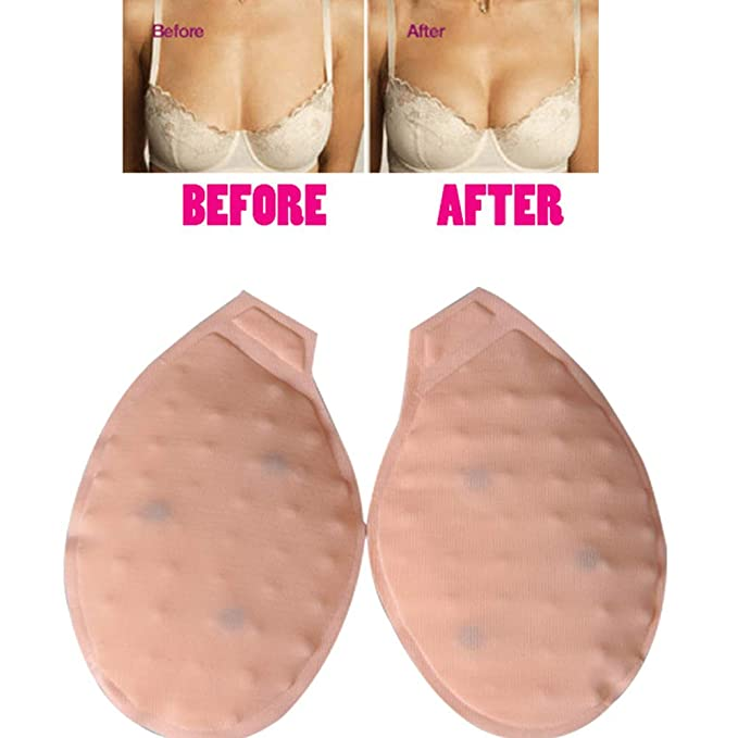 fa0256b97e2 Zooarts Magnetic Therapy Bra Inserts Bust Lift Bust Up Anti-sagging Breast  Massager (Beige)  Amazon.co.uk  Clothing