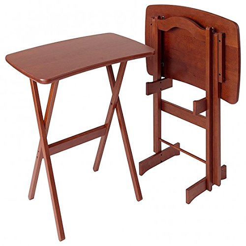 Manchester Wood Contemporary Cherry TV Tray Table Set of 2 -