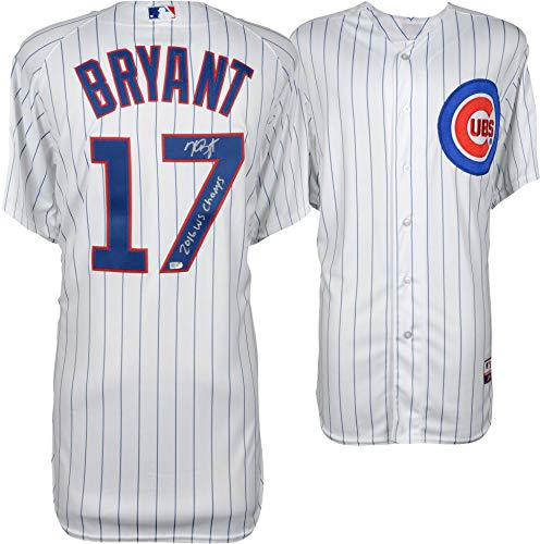 Kris Bryant Chicago Cubs Autographed Majestic Authentic Jersey with