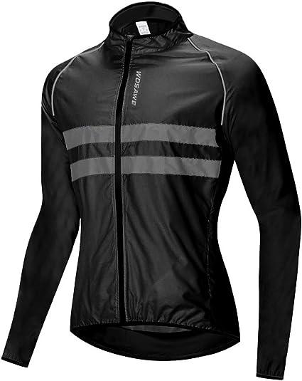 Nouveau Homme Cyclisme Veste Haute Visibilité Imperméable Running Top Manteau de pluie S-2XL