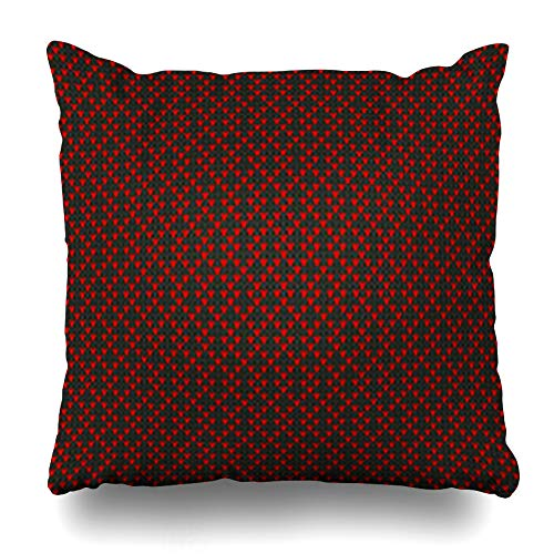 (NOWCustom Throw Pillow Cover Geometry Chevron Fair Pattern Sweater On Wool Norwegian Abstract Christmas Classic Crochet Handicraft Zippered Pillowcase Square Size 20 x 20 Inches Home Decor Pillow Case)