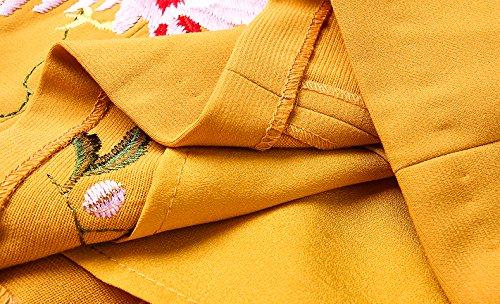 [もうほうきょう] レディースワンピース 春秋 ドレス 刺繍ワンピース 結婚式パーティー チャイナドレス 欧美復古風 膝丈ワンピース 着痩せ タイトワンピース