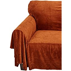 Innovative Textile Solutions Coral Fleece Furniture Throw, 70 by 90-Inch, Coffee