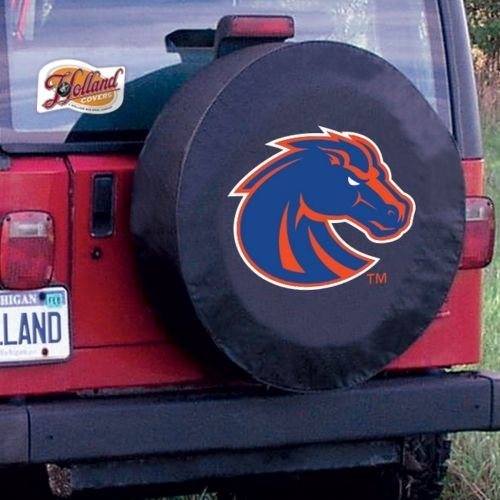 Cover State Tire (Holland Bar Stool TCD10BoiseSBK-30 3/4 x 10 Boise State Tire Cover-Black)