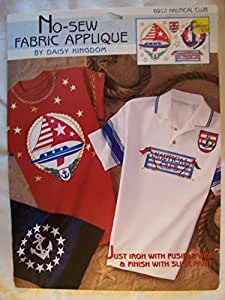 Daisy Kingdom No-Sew Fabric Applique ~ Nautical Club