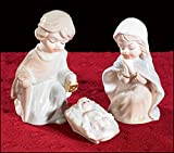 Three-Piece Childlike Nativity, Porcelain, 3-1/4'' H, 12 pack.