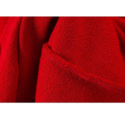 Red Match Semplice All Con Cappotto Alla Moda Eleganza Casual Inverno Cappuccio Autunno Donna xFqTS7S