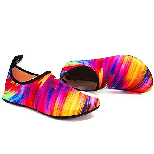 Pour Barefoot Sport Hommes Slip on Chaussures Vifuur Color Femmes Chaussettes Enfants Aqua Yoga De Nautique Schage Rapide 7UqnfwC