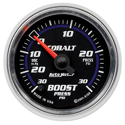 16 Solid Full Face - Auto Meter 6159 Cobalt Full Sweep Electric Boost / Vacuum Gauge
