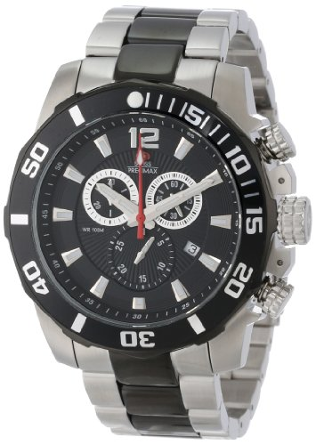Swiss Precimax Men's SP13259 Crew Pro Black Dial with Two-Tone Stainless Steel Band Watch