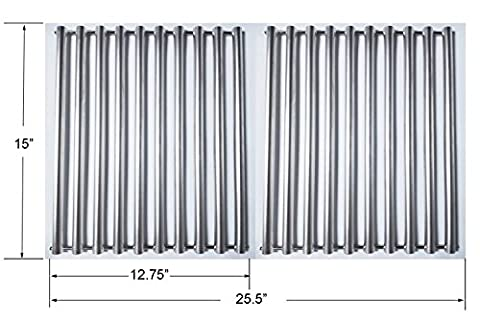 GS1228 Stainless Steel Cooking Grids for Broil King Crown 10, 20, 40, 90 - Signet 20, 70, 90, Set of (Broil King Signet)
