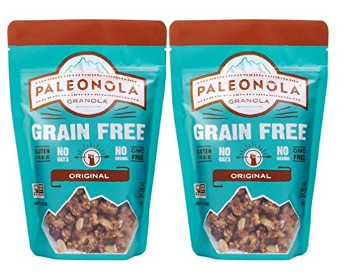 Paleonola Grain Free Gluten Free Non-GMO Granola, Original Flavor - Pack of 2, 10 Oz. ea. made in New England
