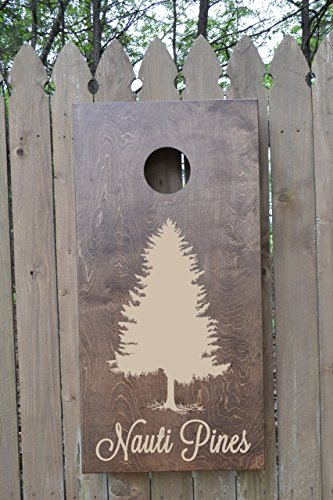 Custom Stained Personalized Cornhole Boards Set with Bags by The Rusty Suitcase