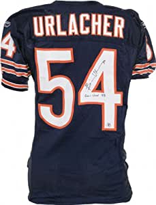 Brian Urlacher Chicago Bears Autographed Game Used Reebok Jersey With Gu 08 Inscription