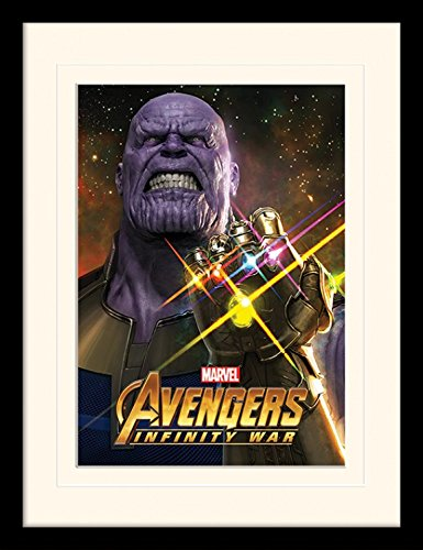 The Avengers Framed Collector Poster - Infinity War, Infinity Gauntlet Power (16 x 12 inches)