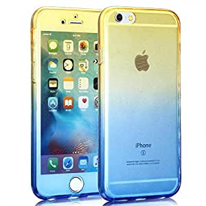 Shockproof Armor Back And Front Cover Case For Apple iPhone 6 Plus 5.5 Inch Yellow And Blue