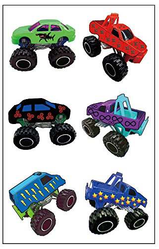 Premium Monster Truck Temporary Tattoos, Party Favors ()