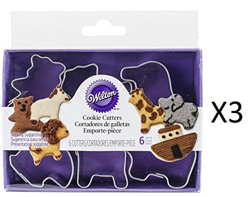 Bulk Buy: Wilton Mini Metal Cookie Cutters 6/Pkg Noah's Ark W2308M-1206 (Wilton Industries Cookie Cutters)