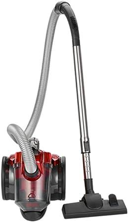 Clatronic BS 1308 Aspiradora ciclónica sin bolsa potente, filtro HEPA, tubo telescópico metal, cepillo mixto y rinconera,eficiencia energética A, 700 W, Aluminio, Rojo: Amazon.es: Hogar