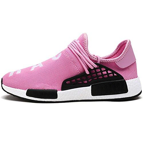 39 Casual Scarpe Rosa delle 47 Lacci Sneaker Scarpe Banda Sportive Scarpe Uomo wealsex Elastica Senza Bw8ZZ7