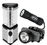 Performance Tool W2341 3 Piece LED Flashlight & Lantern