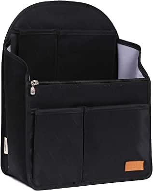 IN Backpack Organizer Insert,Nylon Organizer Insert for Backpack Rucksack Shoulder Bag Woman MCM divider foldable ...