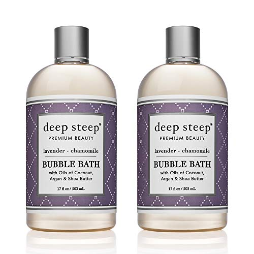 Deep Steep Bubble Bath, 17 Ounce (Pack of 2) (Lavender Chamomile)