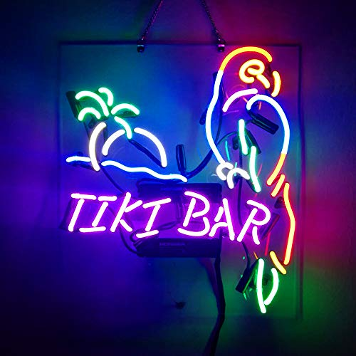 Tiki Bar Parrot Neon Sign Beer Bar Pub Store Party Room Wall Windows Display Neon Light 19x15