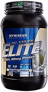 Dymatize All Natural Elite 100% Whey Protein, Gourmet Vanilla, 2 lbs