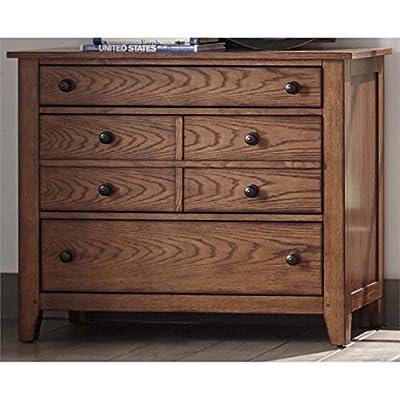 "Liberty Furniture 175-BR30 Grandpa's Cabin 3-Drawer Dresser, 40"" x 18"" x 33"", Aged Oak"