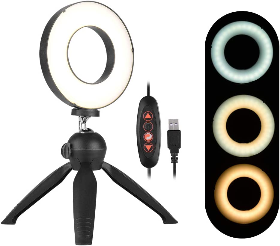 Toptoo Tragbare 4 6 Zoll Led Ringlicht Dimmbare Selfie Kamera