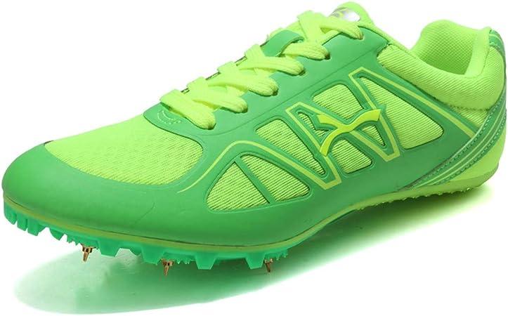 LFLDZ Zapatillas de Pista y Campo para niños, para Correr, para Hombres y Mujeres, Zapatos de Pista y Campo Profesionales, Zapatillas de Entrenamiento de competición, Tela, Verde, 35: Amazon.es: Hogar