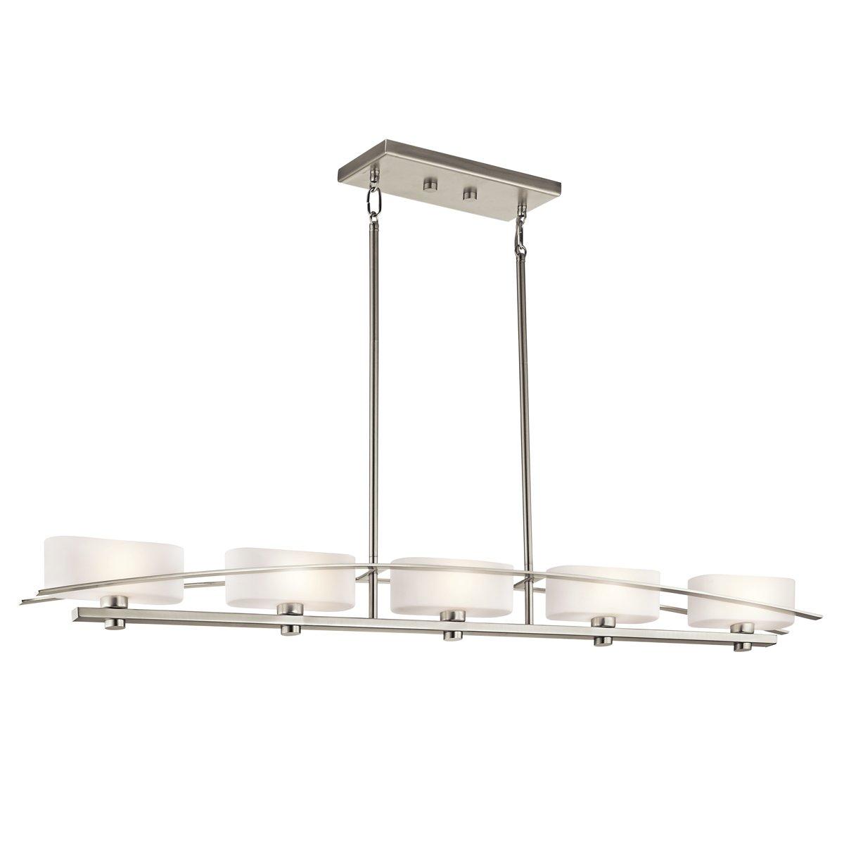Kichler 42018NI Five Light Linear Chandelier - Track Lighting ...