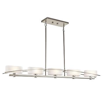 Kichler 42018NI Five Light Linear Chandelier