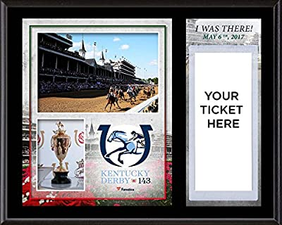 "Kentucky Derby 143 12"" x 15"" Sublimated ""I Was There"" Ticket Plaque - Fanatics Authentic Certified - Horse Racing Plaques, and Collages"