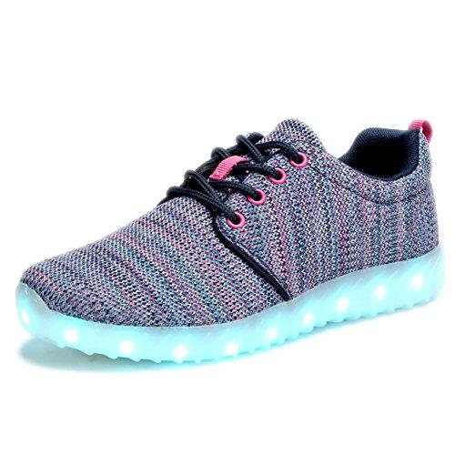 COODO LED leuchten Schuhe für Frauen Kinder Mädchen blinkende Glitter Turnschuhe (Kleinkind / Kind / Frauen) 3-violett