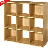 Cubical Shelf Organizer Storage Unit Adjustable 9-Cubby Stackable Storage Sections Organizer Decorative Indoor Home Office Entryway Decor Furniture Bookcase & eBook by BADA shop