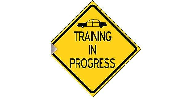 training in progress sign
