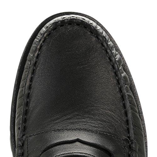 Tower Femmes Noir Cuir Loafers