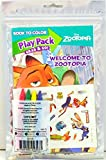 Disney Welcome to Zootopia - Set of 24 Disney Play Pack Grab & Go - party coloring and activity play packs