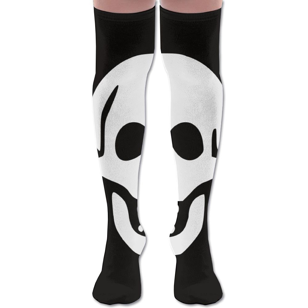 Skull Over The Knee Cool Socks Casual Cotton Mismatched Knee BDFGB