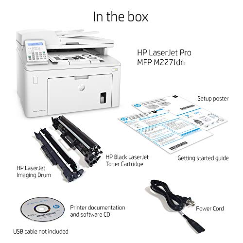HP LaserJet Pro M227fdn All in One Laser Printer with Print Security, Amazon Dash Replenishment ready (G3Q79A). Replaces HP M225dn Laser Printer by HP (Image #3)