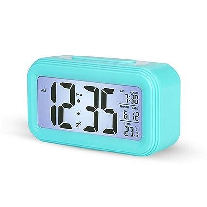 Reloj digital simple, 4-Pulgadas Luz de Fondo Pantalla Grande, Sensor de Temperatura