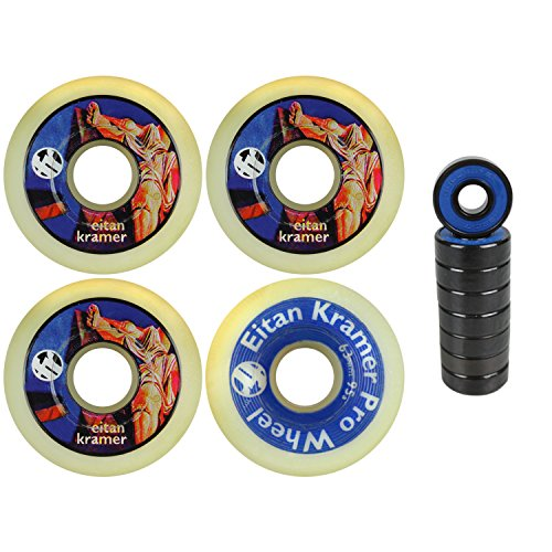 Cheap Aggressive Inline Skate Wheels Eitan Kramer Natural 63mm 95a 4 Pack Abec 7 free shipping